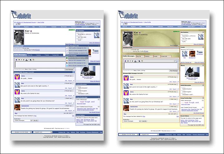 vBulletin Profil Seite